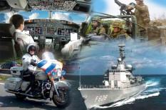 Politie, verkeersvliegers, krijgsmacht en maritieme beroepen